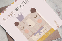 Load image into Gallery viewer, Children's Birthday Card - Kids Birthday Cards - Bear Birthday Card