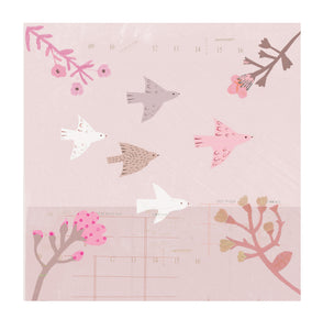 Flower Birds - Blank Greetings Card