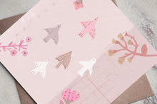 Load image into Gallery viewer, Flower Birds - Blank Greetings Card