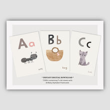 Load image into Gallery viewer, Digital Download  - Baby Alphabet Flashcards