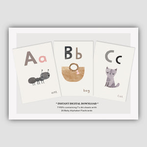 Digital Download  - Baby Alphabet Flashcards