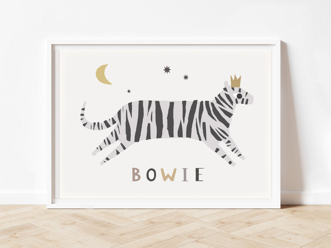 Personalised grey tiger print