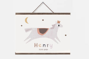 Personalised horse nursery print