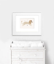 Load image into Gallery viewer, Whimsical lion wall art print - Nursery Print