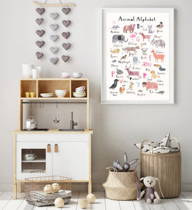 Animal Alphabet Print - Portrait Format