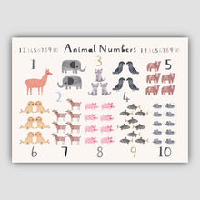 Load image into Gallery viewer, Digital Download - New Animal Number Print - Landscape Format