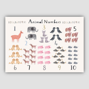 Digital Download - New Animal Number Print - Landscape Format