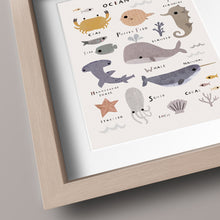 Load image into Gallery viewer, Ocean Themed Kids Print