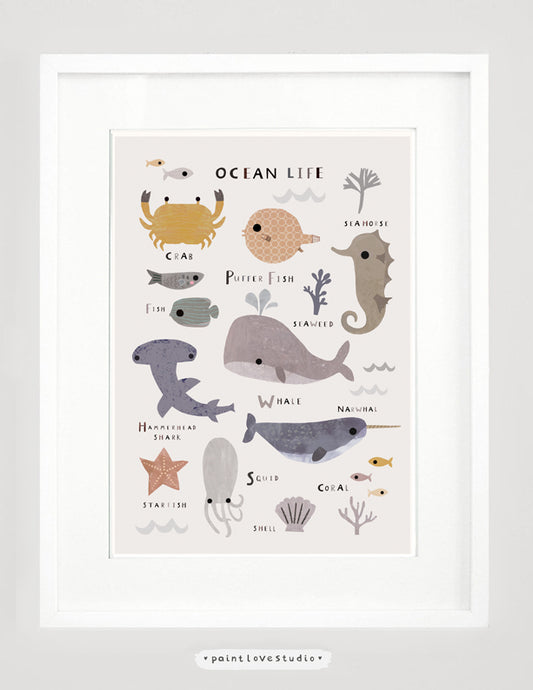Ocean Themed Kids Print