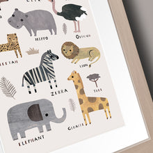 Load image into Gallery viewer, Safari Animal Nursery Print Decor