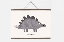 Load image into Gallery viewer, Dinosaur nursery print, stegosaurus print