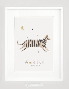 Personalised tiger print - portrait