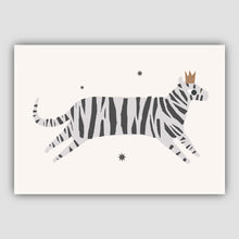 Load image into Gallery viewer, Grey tiger wall art print - Nursery Print