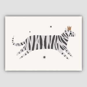 Grey tiger wall art print - Nursery Print