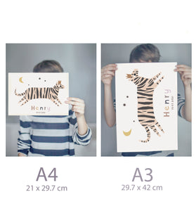 Personalised tiger print