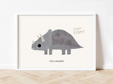 Load image into Gallery viewer, Dinosaur nursery print, triceratops print