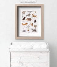 Load image into Gallery viewer, Woodland Animals Nursery Decor