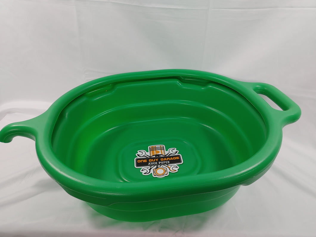 Green oval drain pan