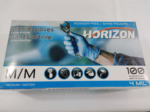 Nitril Gloves Medium 4 MIL Blue