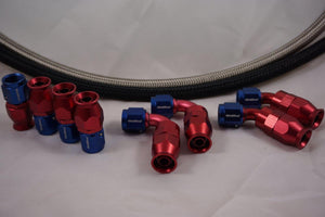AN-10 Stainless Braided Hose & 8 10AN fittings bundle