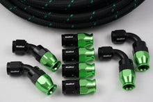 Load image into Gallery viewer, AN-6 Nylon Braided choose your color and 8 Fittings Bundle Deal