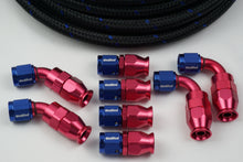 Load image into Gallery viewer, AN-8 Nylon Braided & 8 Fittings Bundle Deal - Choose your color