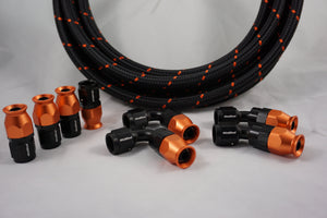 Anniversary PTFE Hose Bundle - Orange & Black