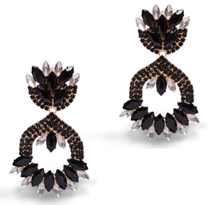 Ballerina Black Earrings
