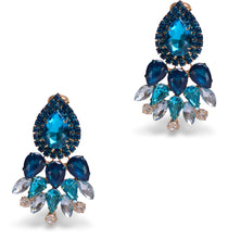 Load image into Gallery viewer, Blue Shades Earrings
