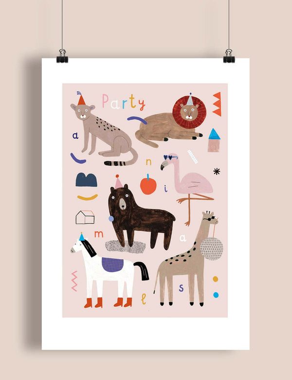ilustrace A3 - party animals