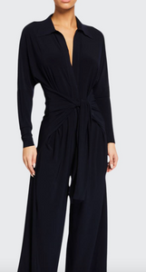 Norma Kamali Tie Front Jumpsuit