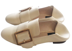 Collapsable Heel Loafers Ivory
