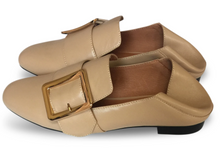 Load image into Gallery viewer, Collapsable Heel Loafers in Beige