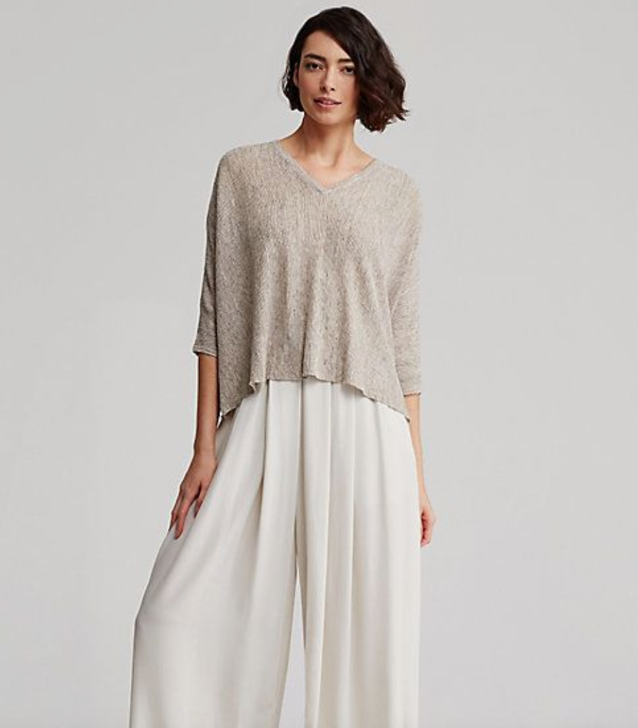 Eileen Fisher Lightweight Linen Delave
