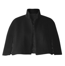 Load image into Gallery viewer, Andrea Alpaca Short Cape Black