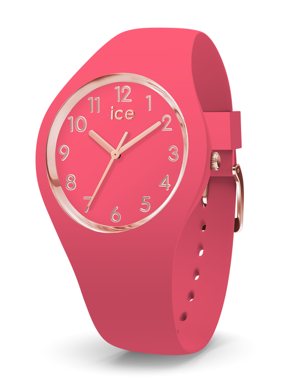 ICE WATCH Glam Colour Collection Rose Gold Case 34mm (S) Rasberry Red Dial Raspberry Red Strap