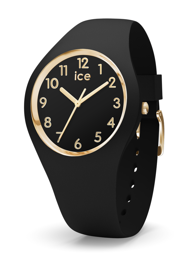 ICE WATCH Glam Collection Gold Case 34mm (S) Black Dial Black Strap