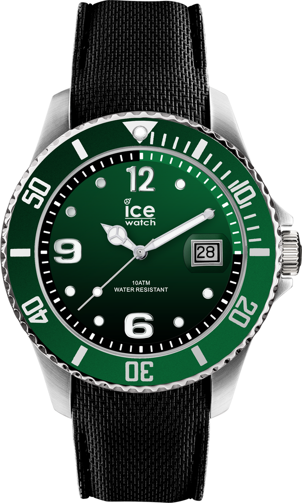 ICE WATCH Steel Collection Green Case 40mm (M) Green Dial Black Strap
