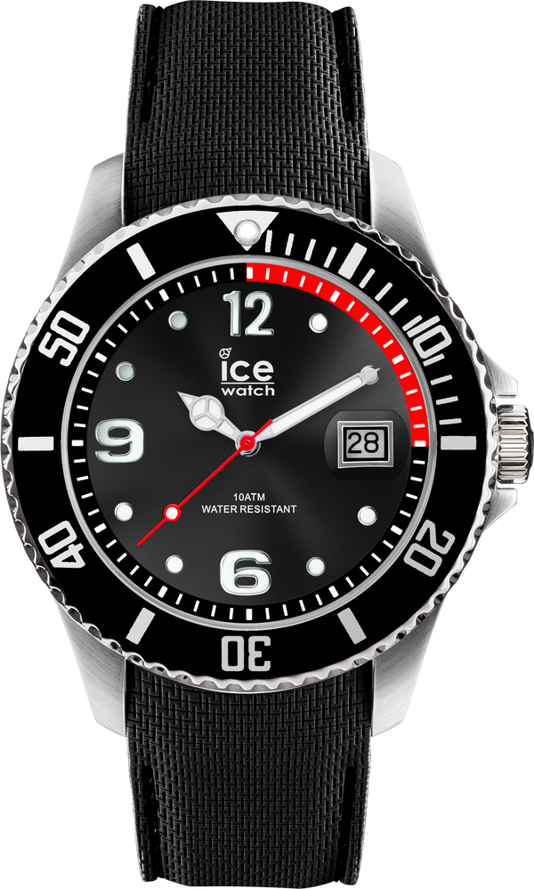 ICE WATCH Steel Collection Black Case 40mm (M) Black Dial Black Strap