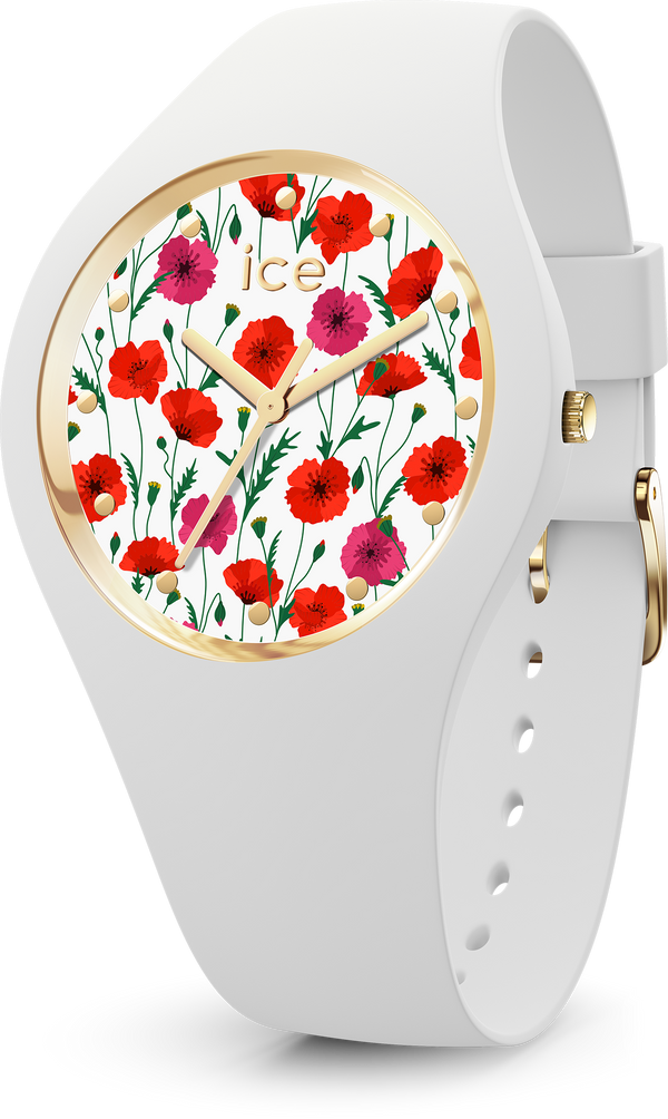 ICE WATCH Flower White Poppy Small 3H