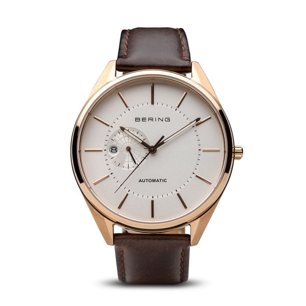 Bering Automatic Polished Rose Gold Watch