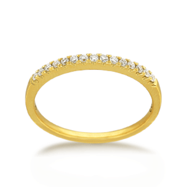 18ct Yellow Gold Round Brilliant-cut 0.15ct TDW Diamond Wedding Ring