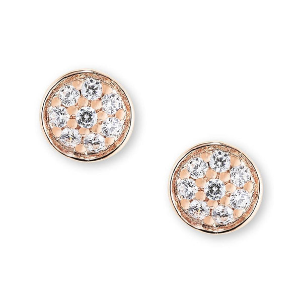 9Ct Rose Gold Cubic Zirconia Earrings