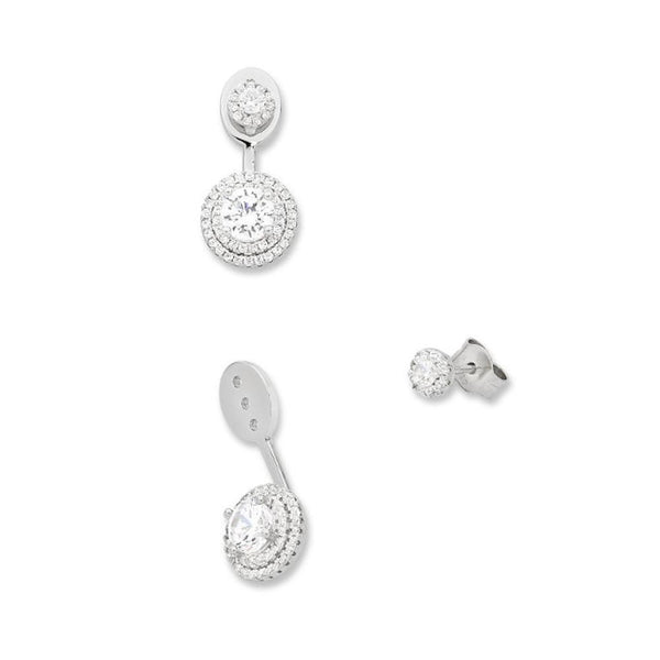 Sterling Silver Cubic Zirconia Earrings