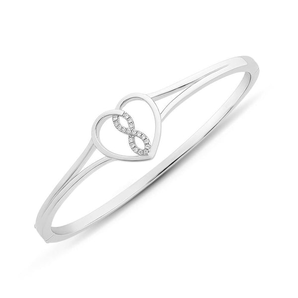 Sterling Silver Cubic Zirconia Bangle