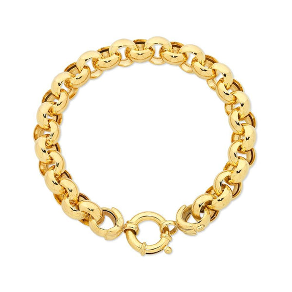 9Ct Gold Silver Filled Belcher Bracelet