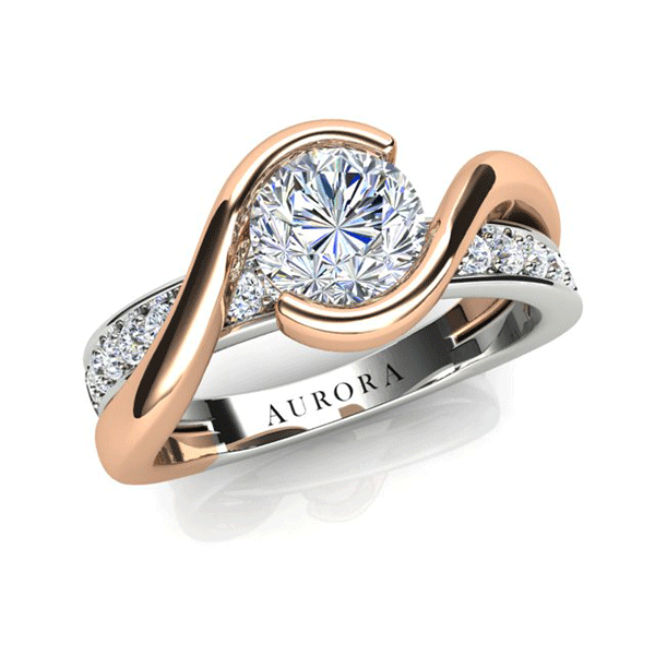 Aurora 18ct Gold H SI1 - 0.66ct TDW Diamond Ring