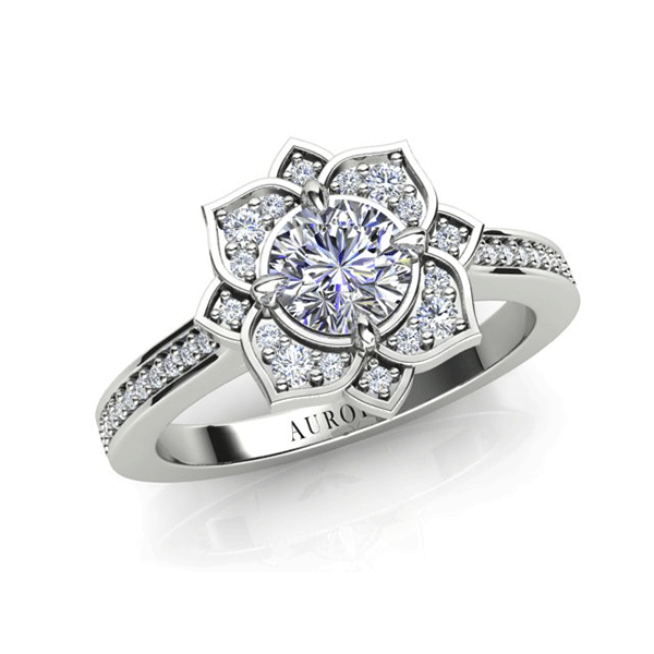 Aurora 18ct White Gold G SI1 - 0.935ct TDW Diamond Ring