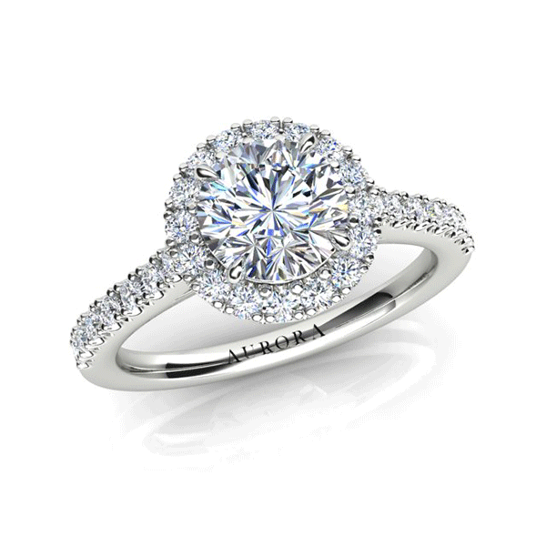 Aurora 18ct White Gold G SI1 - 0.90ct TDW Diamond Ring