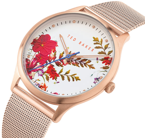 Ted Baker Belgravia Floral Gold Mesh Watch